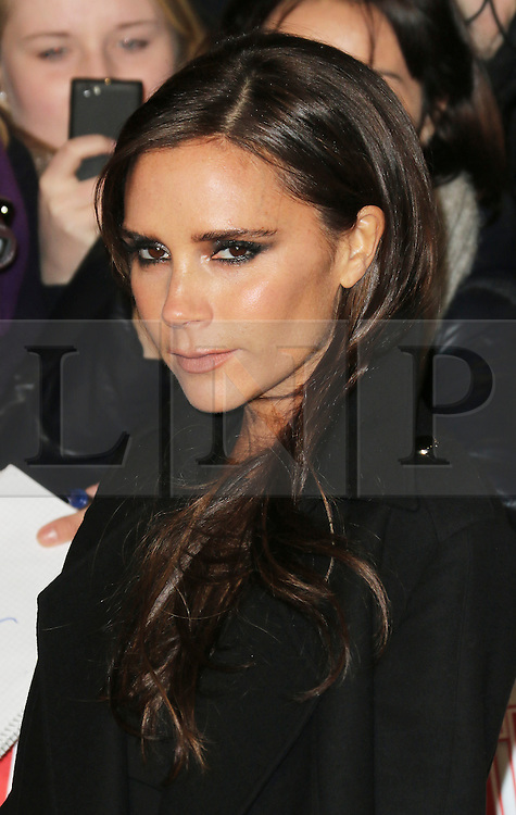 © Licensed to London News Pictures. Victoria Beckham  attends The Class of 92  World Film Premiere at The Odeon West End, Leicester Square, London on 01 December 2013. Photo credit: Richard Goldschmidt/LNP