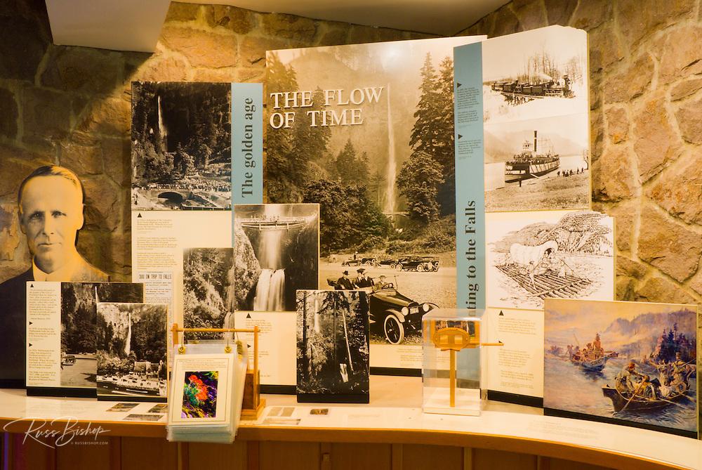 Interpretive display at the Multnomah Lodge, Columbia River Gorge National Scenic Area