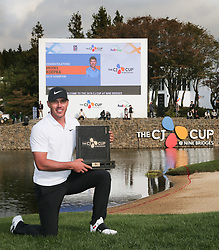 Oct 21, 2018 - Jeju, South Korea - BROOKS KOEPKA of USA Win Ceremony after round on the 18th hall during the PGA Golf CJ CUP Nine Bridges Final Round at Nine Bridges Golf Club. (Credit Image: © JNA via ZUMA Wire)