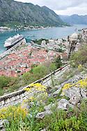 The UNESCO-listed old town of Kotor, on the Boka Kotorska (Kotor Inlet), Montenegro
