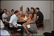 ANDY SIMPKIN; OLIVIA COLE, Matt's Gallery 35th birthday fundraising supper.  42-44 Copperfield Road, London E3 4RR. 12 June 2014.