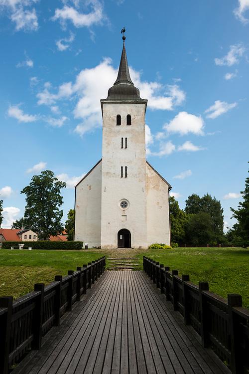 Viljandi, Estonia - July 13, 2015: St. John's Church in Viljandi, Estonia