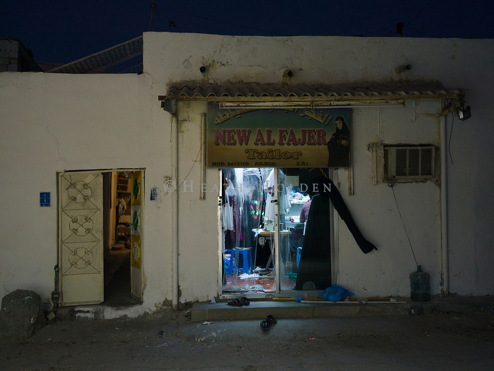 Atmospheric scenes of daily life from some of Doha's older neighbourhoods where the authentic Middle Eastern feel is still intact, for now. Originally from India, Imtaz Ansari now works in a textiles shop near Musheireb old town.