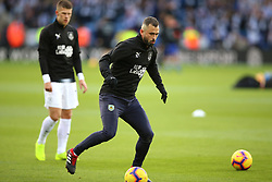 Burnley's Steven Defour warms up before the match