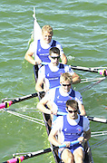Peter Spurrier Sports  Photo.email pictures@rowingpics.com.Tel 44 (0) 7973 819 551.Tel/Fax 44 (0) 1784 440 772..GBR LM 4- ..Matthew Beechey, Stephen Lee, James Mcgarva and stroke Mark Hunter 20010515 FISA World Cup, Seville, SPAIN