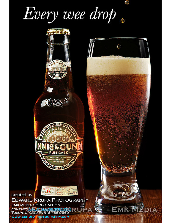 Self Promotion. Innis and Gunn Run Cask Scottish Beer. Designed and photographed by Edward Krupa.