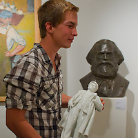 Artifacts from Hungary's socialist past are on auction in Budapest, Hungary, on  November 07, 2011. ATTILA VOLGYI