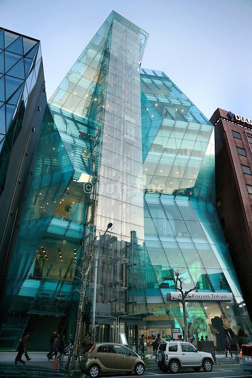 Audi Forum called The Iceberg building in Shibuya Tokyo