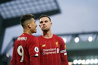 Football - 2019 / 2020 Premier League - Liverpool vs. Southampton<br /> <br /> Liverpool's Jordan Henderson celebrates scoring his sides second goal <br /> <br /> Colorsport / Terry Donnelly