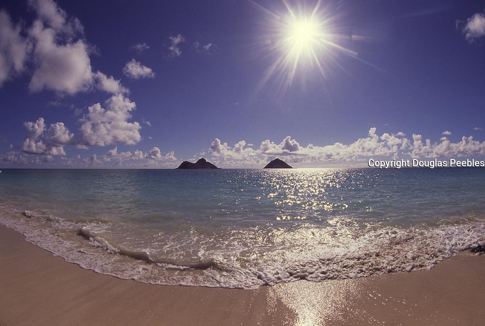 Mokulua islands, Lanikai Beach, Oahu, Hawaii, USA<br />
