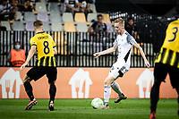 MARIBOR, Slovenia - SEPTEMBER 16: Zan Karnicnik of NS Mura  during the UEFA Conference League match between Mura and Vitesse at Stadion Ljudski vrt on September 16, 2021 in Maribor, Slovenia