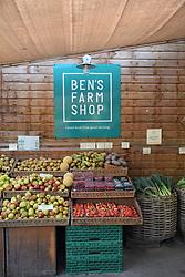 Ben's Farm shop near Totnes, Devon UK Oct 2020