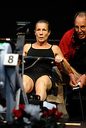 Dresden, GERMANY, US Indoor Rowing Team  [40-49 years] Pam RAILA, competing at the European Indoor Rowing Championships, Margon Arena,  15/12/2007 [Mandatory Credit Peter Spurrier/Intersport Images]