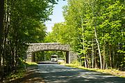 Bridge over Park Loop Road in Acadia National Park, near Bar Harbor, Maine, USA.