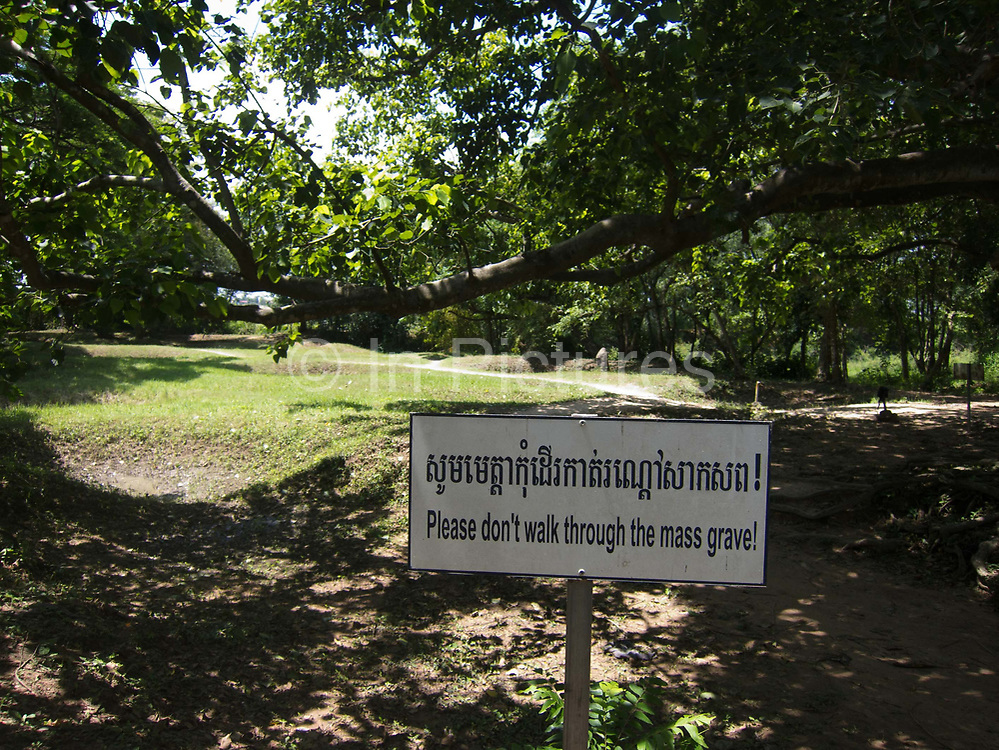 The Killing Fields, 15 miles outside Phnom Penh. The site was where prisoners were taken from Camp S21, a interrogation camp set up in a college in Phnom Penh to be killed and dumped in mass grave sites. The victims were men, women and children, including babies. Millions perished unde the Khmer Rouge regime run by Pol Pot in the seventies.