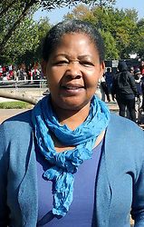 May 24, 2016 - Johannesburg, South Africa - Antoinette Sithole, sister of Hector Pieterson, standing on the grounds of the Hector Pieterson museum in Soweto in Johannesburg, South Africa, 24 May 2016. On 16 June 1976, 12-year-old Hector was shot by policemen. 15,000 students demonstrated against the introduction of Afrikaans as the official language at the schools in South Africa. Afrikaans used to be the language of the white, the suppressed black population was hardly able to speak it and expected further discrimation. The nationwide protests started in Soweto. PHOTO: JULIA NAUE/dpa (Credit Image: © Julia Naue/DPA via ZUMA Press)