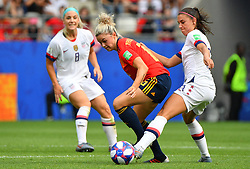 Spain 's Maria Leonduring the 2019 FIFA Women's World Cup Round Of 16 match Spain v USA at Stade Auguste Delaune on June 24, 2019 in Reims, France. USA won 2-1 reaching the quarter-finals. Photo by Christian Liewig/ABACAPRESS.COM