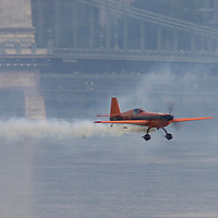 0708193866a Red Bull Air Race international air show qualifying runs over the river Danube, Budapest preceding the anniversary of Hungarian state foundation. Hungary. Sunday, 19. August 2007. ATTILA VOLGYI