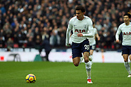 Dele Alli of Tottenham Hotspur in action. Premier league match, Tottenham Hotspur v Arsenal at Wembley Stadium in London on Saturday 10th February 2018.<br /> pic by Steffan Bowen, Andrew Orchard sports photography.