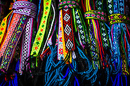 Colorfull handicrafts for sale in the market of Sapa, Vietnam, Asia