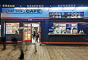Surf View Cafe | An Evening at Santa Monica Pier, Los Angeles, California, USA