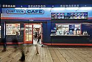 Surf View Cafe | An Evening at Santa Monica Pier, Los Angeles, California, USA