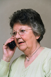 Woman chatting on the telephone,