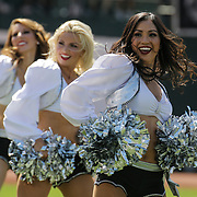 Sep 20 2015 - Oakland U.S. CA - Oakland Raiderettes during NFL Football game between Baltimore Ravens and the Oakland Raiders 37-33 win at O.co Coliseum Stadium Oakland Calif. Thurman James / CSM