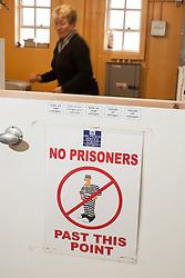 Prison tailors workshop, UK prison