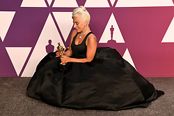 """Lady Gaga, winner of the Best Original Song Award for """"Shallow"""" in """"A Star Is Born"""" at the 91st Annual Academy Awards"""