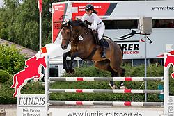 03,Springpferdeprfg. KL. M*, , Ehlersdorf, Reitanlage Jörg Naeve, 15. - 18.07.2021, Laura Marie Koller (GER), Comme la Rose,