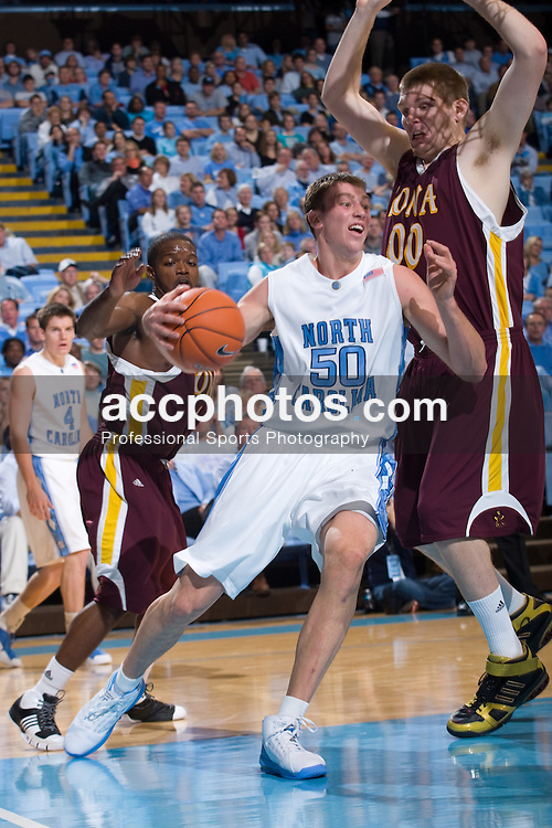 18 November 2007: North Carolina Tar Heels forward Tyler Hansbrough (50) in a 107-72 win over the Iona Gales at the Dean Smith Center in Chapel Hill, NC.