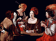 Georges de La Tour (1593 –  1652) French painter.   The Cheat with the Ace of Diamonds. Oil on canvas, ca 1635