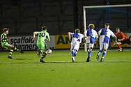 Forest Green Rovers Jordan Stevens(8) takes a penalty and scores a goal 1-1 during the The FA Youth Cup match between Bristol Rovers and Forest Green Rovers at the Memorial Stadium, Bristol, England on 2 November 2017. Photo by Shane Healey.