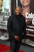 25 October 2010- New York, NY- John Singleton at Tyler Perry's World Premiere of the Film 'For Colored Girls ' an Adaptation of Ntozake Shange's play ' For Colored Girls Who Have Considered Suicide When the Rainbow Is Enuf.' held at the Zeigfeld Theater on October 25, 2010 in New York City.