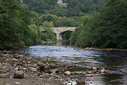 Bridge over the River Swale. Richmond is a market town and the centre of the district of Richmondshire. Historically in the North Riding of Yorkshire, it is situated on the edge of the Yorkshire Dales National Park. North Yorkshire, England, UK.