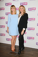 Kate Garraway, Andrew Castle and Tina Hobley launch the new Smooth, the UK's fourth largest commercial radio network with 4.3 million listeners each week, Global Radio Leicester Square, London UK, 24 February 2014, Photo by Richard Goldschmidt