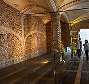 The Chapel of Bones, Capela dos Ossos, city of Evora, Alto Alentejo, Portugal, southern Europe