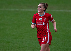 BIRKENHEAD, ENGLAND - Sunday, March 14, 2021: Liverpool's Melissa Lawley celebrates after scoring the fifth goal during the FA Women's Championship game between Liverpool FC Women and Coventry United Ladies FC at Prenton Park. Liverpool won 5-0. (Pic by David Rawcliffe/Propaganda)