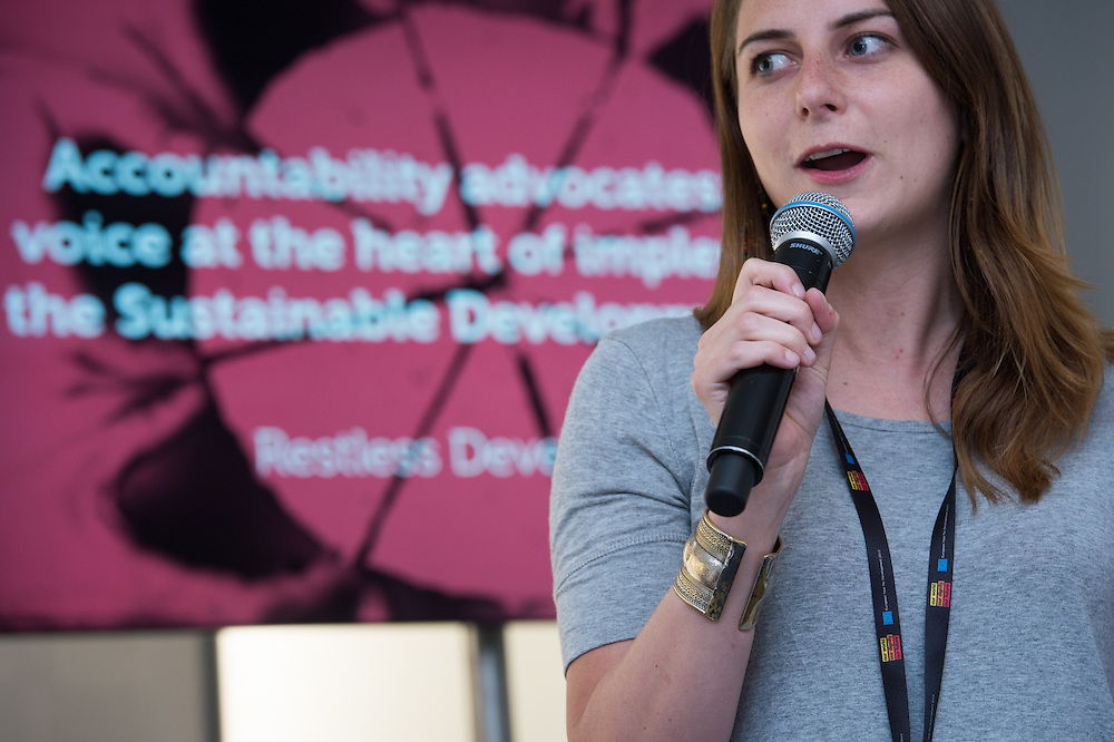 04 June 2015 - Belgium - Brussels - European Development Days - EDD - Citizenships - Accountability advocates - Youth voice at the heart of implementing the Sustainable Development Goals - Rachel Litster , Moderator © European Union