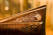 A detail shot of a beautifully crafted gun, hand made by Bobby Denton in North Carolina