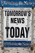 A detail of the Edinburgh Evening News board on the Gorgie Road, on 26th June 2019, in Edinburgh, Scotland.