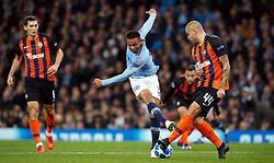 Manchester City's Gabriel Jesus has a shot blocked by Shakhtar Donetsk's Yaroslav Rakytskyy during the UEFA Champions League match at the Etihad Stadium, Manchester.
