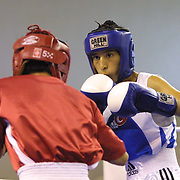 2. WOMEN'S WORLD BOXING CHAMPIONSHIPS.<br /> Turkey's Derya Aktop (R) . Dilek Sabanci Sport Hall Antalya/Turkey<br /> Photo by Aykut AKICI/TurkSporFoto