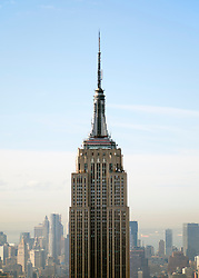 View of the Empire State Building in Manhattan New York City USA