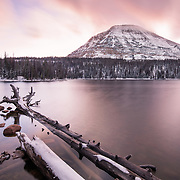 Mirror Lake gets its first snow early up high in the Uintas. Utah