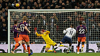 Football - 2018 / 2019 Premier League - Tottenham Hotspur vs. Manchester City<br /> <br /> Erik Lamela (Tottenham FC)  blasts his shot high and wide as he misses the chance to equalise for his team at Wembley Stadium.<br /> <br /> COLORSPORT/DANIEL BEARHAM