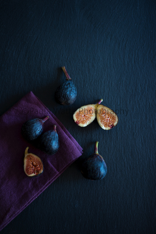 figs on slate food photography san diego