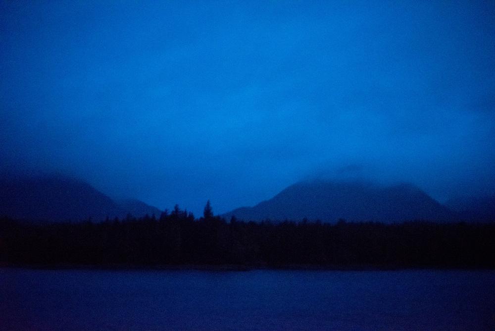 Pre-dawn light along the Inner Passage to Alaska