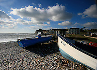 Boats at freshwater bay, isle of wight